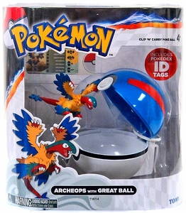Pokemon TOMY Clip 'n Carry Poke Ball Archeops & Great Ball
