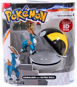 Pokemon TOMY Clip 'n Carry Poke Ball Cobalion & Ultra Ball