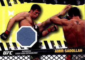 UFC Topps Ultimate Fighting Championship 2010 Championship Single Card Fight Mat Relic FM-ASA Amir Sadollah
