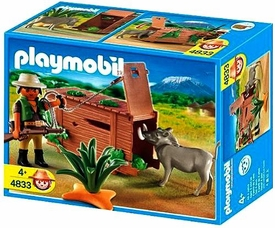 Playmobil African Wild Life Set #4833 Ranger with Warthog