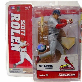 McFarlane Toys MLB Sports Picks Series 12 Action Figure Scott Rolen (St. Louis Cardinals) Gray Jersey Variant