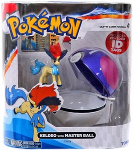 Pokemon TOMY Clip 'n Carry Poke Ball Keldeo & Master Ball