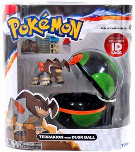 Pokemon TOMY Clip 'n Carry Poke Ball Terrakion & Dusk Ball