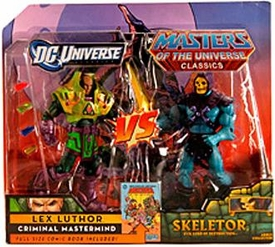DC Universe & Masters of the Universe Classics Exclusive Action Figure 2-Pack Skeletor Vs. Lex Luthor