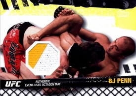 UFC Topps Ultimate Fighting Championship 2010 Championship Single Card Fight Mat Relic FM-BP BJ Penn