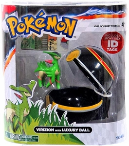 Pokemon TOMY Clip 'n Carry Poke Ball Virizion & Luxury Ball