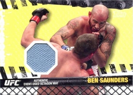 UFC Topps Ultimate Fighting Championship 2010 Championship Single Card Fight Mat Relic FM-BS Ben Saunders BLOWOUT SALE!