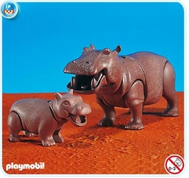 Playmobil African Wild Life Set #7220 Hippo with Calf