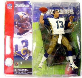 McFarlane Toys NFL Sports Picks Series 1 Action Figure Kurt Warner (St. Louis Rams) White Jersey No Helmet Variant