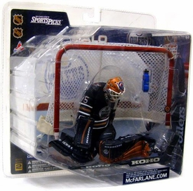 McFarlane Toys NHL Sports Picks Series 2 Action Figure Tommy Salo (Edmonton Oilers) Blue Jersey