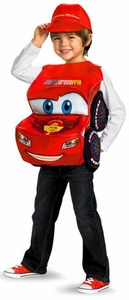Disguise Cars 2 Deluxe Costume #27231 3D Lightning McQueen (Child Standard Size)