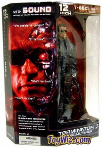 McFarlane Toys Terminator 3 Deluxe 12 Inch Action Figure with Sound T-850 Terminator [Arnold Schwarzenegger]