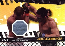 UFC Topps Ultimate Fighting Championship 2010 Championship Single Card Gold Fight Mat Relic FM-JE Jake Ellenberger 82/188
