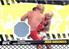 UFC Topps Ultimate Fighting Championship 2010 Championship Single Card Fight Mat Relic FM-JK Josh Koscheck