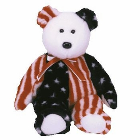 Ty Beanie Buddy Spangle the American Bear