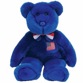 Ty Beanie Buddy John the Blue Bear