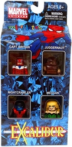 Marvel Minimates Exclusive Mini Figure 4-Pack Excalibur [Captain Britain, Meggan, Nightcrawler & Juggernaut]