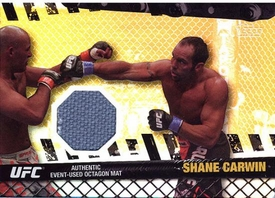 UFC Topps Ultimate Fighting Championship 2010 Championship Single Card Gold Fight Mat Relic FM-SC Shane Carwin 95/188