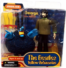 McFarlane Toys Beatles Yellow Submarine Action Figure George with Blue Meanie