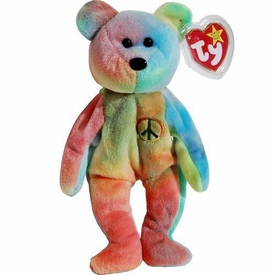 Ty Beanie Baby Peace the Tye Dye Bear