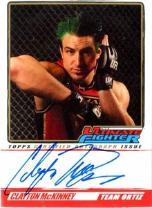 UFC Topps Ultimate Fighting Championship 2010 Championship Single Card The Ultimate Fighter Autograph TUF-CM Clayton McKinney