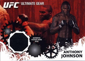 UFC Topps Ultimate Fighting Championship 2010 Championship Single Card Ultimate Gear Relic UG-AJ Anthony Johnson