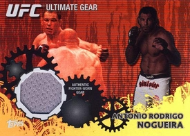 UFC Topps Ultimate Fighting Championship 2010 Championship Single Card Gold Ultimate Gear Relic UG-AN Antonio Rodrigo Nogueira 60/188