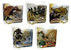 McFarlane Toys Dragons Series 3 Set of 5 Clan Dragon Action Figures