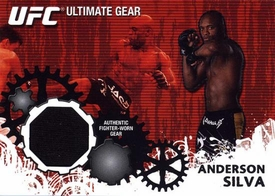 UFC Topps Ultimate Fighting Championship 2010 Championship Single Card Ultimate Gear Relic UG-AS Anderson Silva
