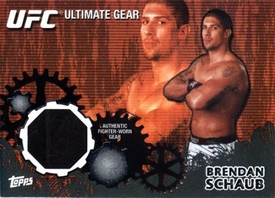 UFC Topps Ultimate Fighting Championship 2010 Championship Single Card Onyx Ultimate Gear Relic UG-BS Brendan Schaub 75/88