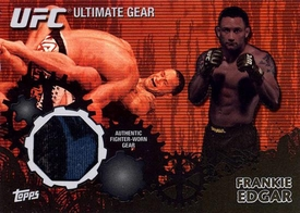 UFC Topps Ultimate Fighting Championship 2010 Championship Single Card Onyx Ultimate Gear Relic UG-FE Frankie Edgar 8/88