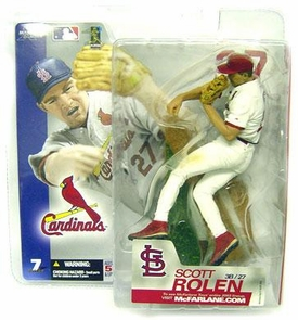 McFarlane Toys MLB Sports Picks Series 7 Action Figure Scott Rolen (St. Louis Cardinals)  White Jersey Variant