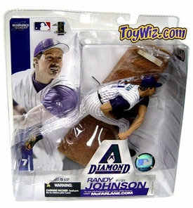 McFarlane Toys MLB Sports Picks Series 7 Action Figure Randy Johnson (Arizona Diamondbacks) White Jersey
