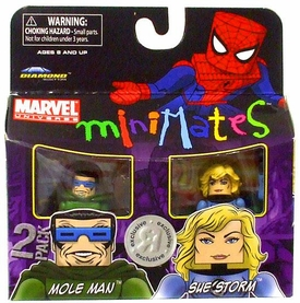 Marvel MiniMates Exclusive Mini Figure 2-Pack Mole Man & Sue Storm