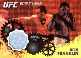 UFC Topps Ultimate Fighting Championship 2010 Championship Single Card Gold Ultimate Gear Relic UG-RF Rich Franklin 142/188