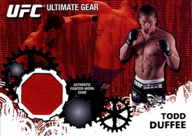 UFC Topps Ultimate Fighting Championship 2010 Championship Single Card Ultimate Gear Relic UG-TD Todd Duffee