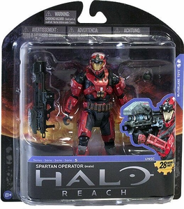 Halo Reach McFarlane Toys Series 5 Exclusive Action Figure Spartan Operator [Team Red / Team Red]