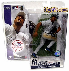 McFarlane Toys MLB Sports Picks Series 7 Action Figure Bernie Williams (New York Yankees) Gray Jersey