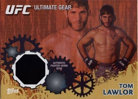 UFC Topps Ultimate Fighting Championship 2010 Championship Single Card Gold Ultimate Gear Relic UG-TL Tom Lawlor 124/188