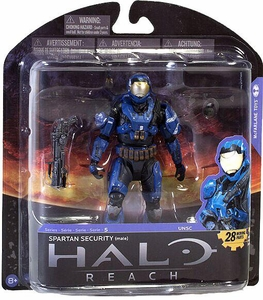 Halo Reach McFarlane Toys Series 5 Exclusive Action Figure BLUE Spartan Security {Male}