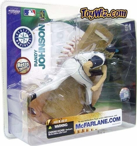 McFarlane Toys MLB Sports Picks Series 7 Action Figure Randy Johnson (Seattle Mariners) White Jersey Variant