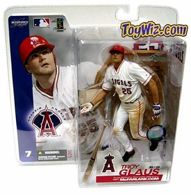 McFarlane Toys MLB Sports Picks Series 7 Action Figure Troy Glaus (Anaheim Angels) White Jersey