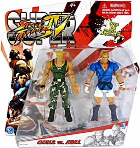 Jazwares Street Fighter Modern 4 Inch Action Figure 2-Pack Guile Vs. Able