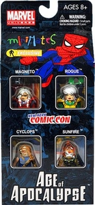 Marvel Minimates 2010 NYCC New York Comic-Con Exclusive 4-Pack Age of Apocalypse Set #1 [Cyclops, Magneto, Rogue & Sunfire]