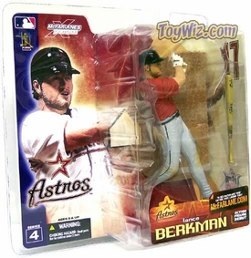 McFarlane Toys MLB Sports Picks Series 4 Action Figure Lance Berkman (Houston Astros) Red Jersey Variant