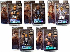 Round 5 UFC Ultimate Collector Series 3 LIMITED EDITION Set of 5 Action Figures [Franklin, W. Silva, A. Silva, Sanchez & Nogueira] Only 500 Sets Exist!