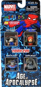 Marvel Minimates 2010 NYCC New York Comic-Con Exclusive 4-Pack Age of Apocalypse Set #2 [Apocalypse, Wolverine, Jean Grey & Dark Beast]