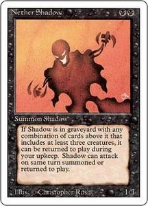 Magic the Gathering Revised Edition Single Card Rare Nether Shadow