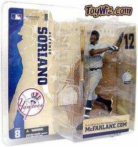 McFarlane Toys MLB Sports Picks Series 8 Action Figure Alfonso Soriano (New York Yankees) Gray Jersey