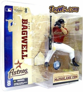 McFarlane Toys MLB Sports Picks Series 8 Action Figure Jeff Bagwell (Houston Astros) Red Jersey